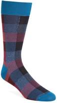 Bugatchi Men's Plaid Crew Socks