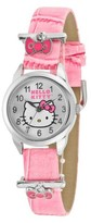 Hello Kitty Wristwatch with Accent Decorative Bows - Pink/Silver