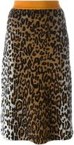 Stella McCartney cheetah print jacquard skirt