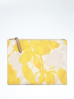 Banana Republic Mixed-Floral Double-Zip Pouch