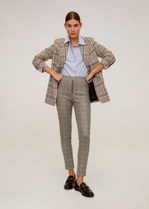 MANGO Zip-pocket slim-fit pants light/pastel grey - XS - Women