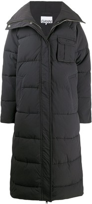 Ganni Padded Mid-Length Coat