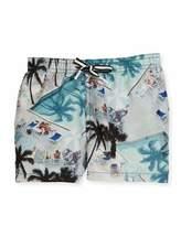 Molo Niko Swimming Pools Board Shorts, Blue, Size 2T-12