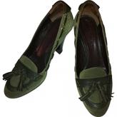 Max Mara Green Leather Heels