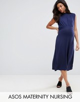 ASOS Maternity - Nursing ASOS Maternity NURSING High Neck Midi Dress