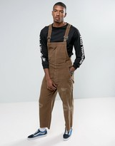 Asos Cord Overalls In Brown