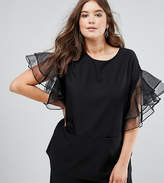 Asos Tunic with Frill Sleeve