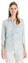 Calvin Klein Jeans Women's Garment Dyed Long Sleeve Shirt