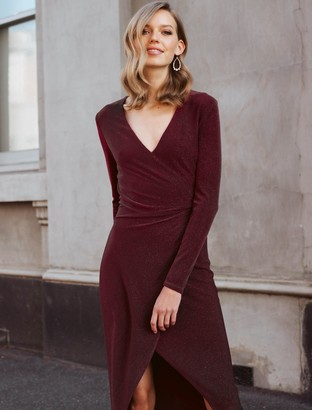 Ever New Effie Wrap O-Ring Jersey Dress