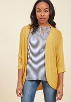 Put Your Threads Together Cardigan in Goldenrod in L