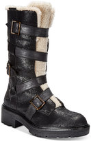 Kelsi Dagger Brooklyn Moore Buckled Block-Heel Mid-Shaft Boots