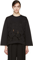 Stella McCartney Black Broderie Anglaise Pullover