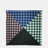 Coach Plaid Mix Oversized Square Scarf