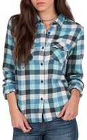 Volcom Women's Lodge Life Plaid Top
