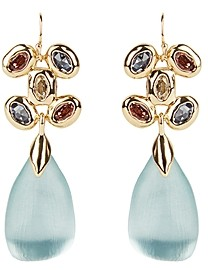 Alexis Bittar Byzantine Lucite Stone Cluster Wire Drop Earrings