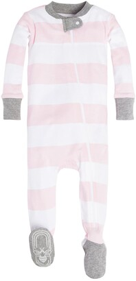 Burt's Bees Baby Burt's Bees Rugby Stripe Fitted One-Piece Pajamas