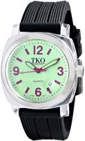TKO ORLOGI Women's TK558-GBK Milano Junior Acrylic Case Dial Watch