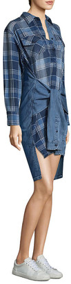 Joie Current/Elliott High-Low Plaid Shirtdress