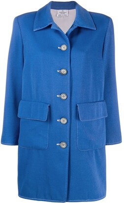 Valentino Pre-Owned 1980's button-down wool coat