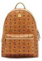 MCM Stark Side Stud Medium Coated Canvas Backpack