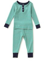 Starting Out Baby Boys 12-24 Months Striped Henley Top & Pants Pajama Set