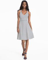 White House Black Market Striped Fit-and-Flare Dress