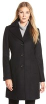 Kristen Blake Women's Single Breasted Wool Blend Coat