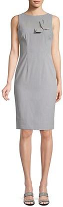 Calvin Klein Pinstripe Bow Sheath Dress