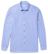 Boglioli - Penny-collar End-on-end Cotton Shirt