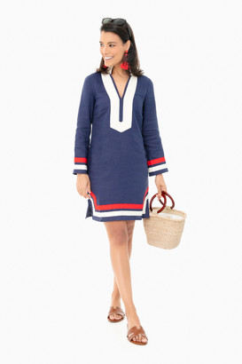 Sail to Sable Americana Long Sleeve Tunic Dress