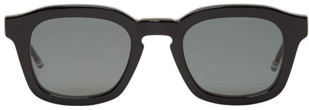 Thom Browne Black Bold Frame Sunglasses