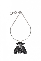 Forest of Chintz Black Behe-Moth Necklace