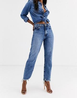 J Brand Jules high rise straight leg jeans