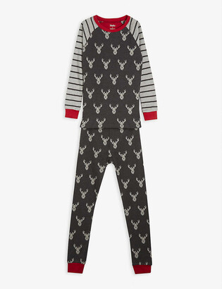 Hatley Stag and stripe-print cotton pyjamas 2-10 years