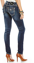 Miss Me Thick-Stitch Stretch Denim Skinny Jeans