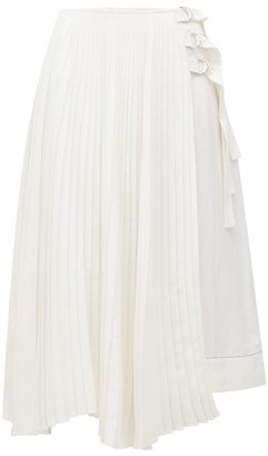 Proenza Schouler Asymmetric Pleated Skirt - White