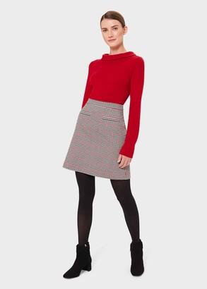 Hobbs Vanetta Check A Line Skirt
