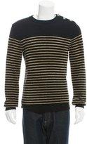 Balmain Wool Metallic Striped Sweater