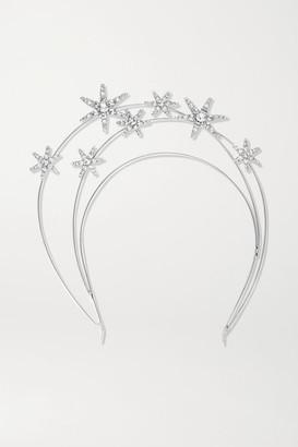 Jennifer Behr Ellerie Crystal-embellished Silver-tone Headband - one size