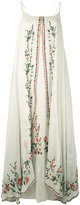 Mes Demoiselles Josephine embroidered maxi dress - women - Cotton - 36