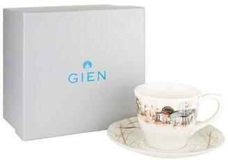 Gien Sologne Duck Teacups And Saucers (Set Of 2)