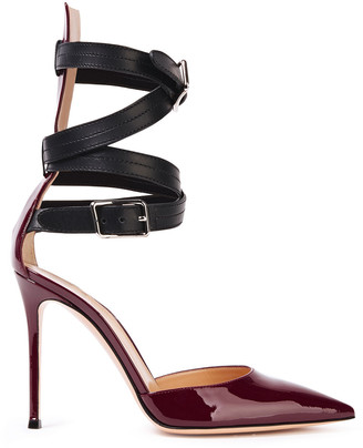 Gianvito Rossi Parker 105 Smooth And Patent-leather Pumps