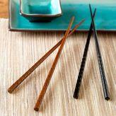 Hammered Bamboo Chopsticks Sets of 2 Pairs