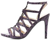 Charlotte Russe Faux Snakeskin Caged Sandals