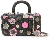 Coach flower embellished tote - women - Leather/Metal (Other) - One Size
