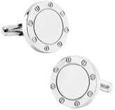 Ox & Bull Trading Co. Men's Stainless Steel Engravable Bolted Cufflinks