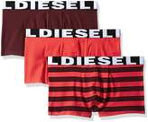 Diesel Men's Shawnthreepack-Allover Stripes Boxer Briefs, Burgundy/Red