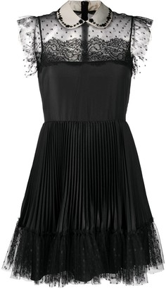RED Valentino Peter Pan collar tulle dress