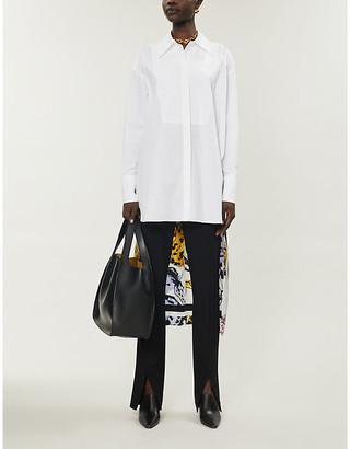 Stella McCartney Horse-print panel organic cotton shirt
