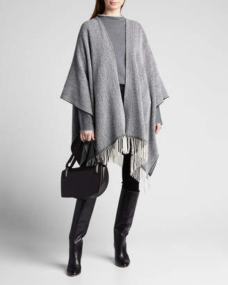 Rag & Bone Herringbone Wool Poncho